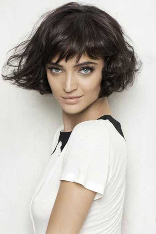 Short Bob Haircuts for Curly Thick Hairstyles