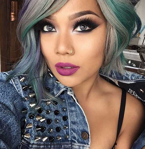 Short Bob Hairstyles And Grey Color