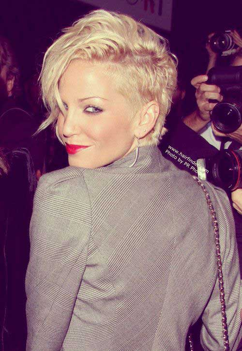 Short Celebrity Blonde Hairstyles 2015