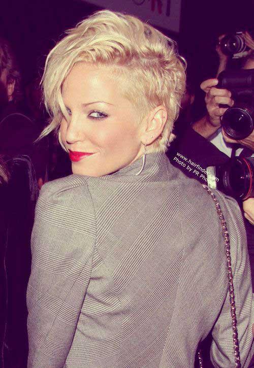 Short Celebrity Blonde Hairstyles 2015