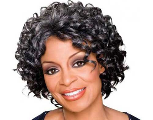 Short Curly Bob Hairstyles for Black Women Over 50