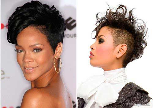 Short Curly Mohawk Hairstyles Black Women