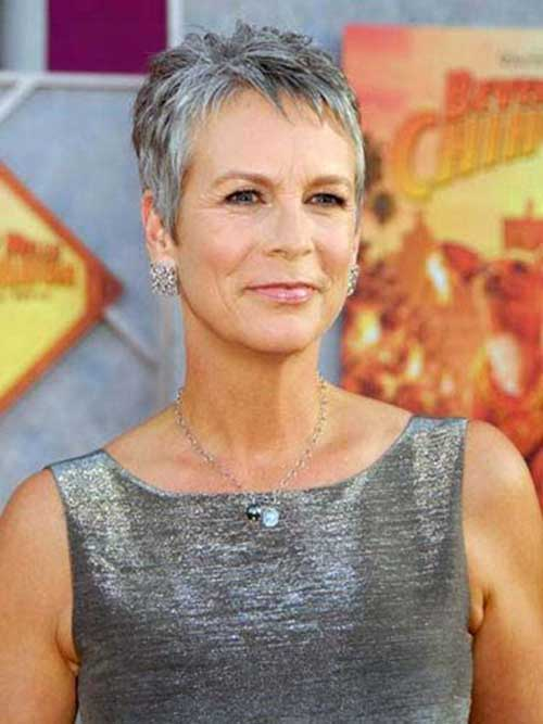 Short Gray Haircuts For Older Women