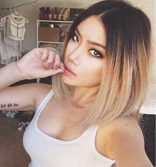 Ombre Short Hair Colour
