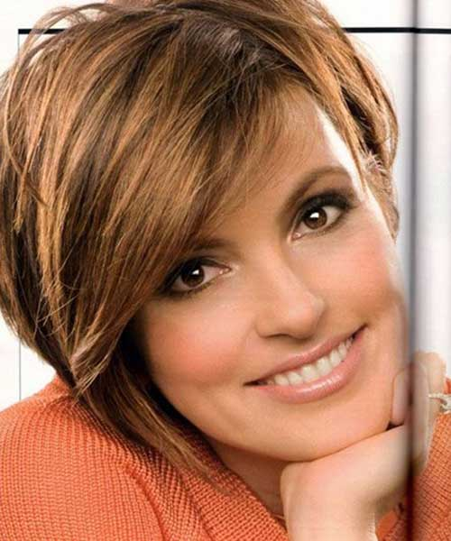 Best Short Hair Cut Highlighted Bangs