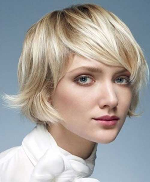 Short Bob Haircuts For Chubby Round Faces