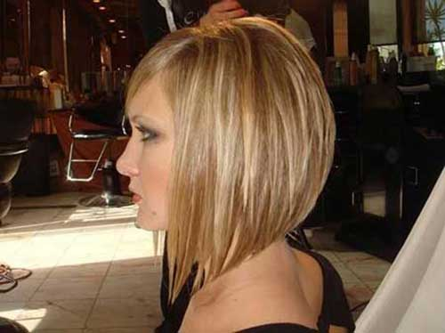 Short Inverted Haircuts for Straight Hair 2014