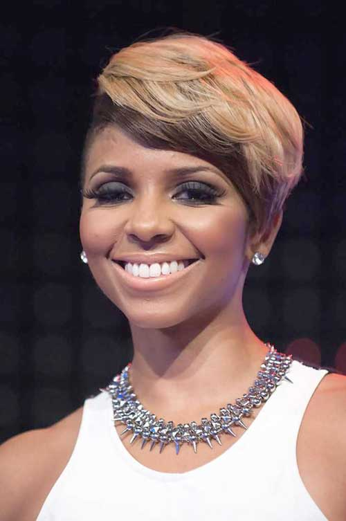 Short Blonde Hairstyles for Round Faces Black Women