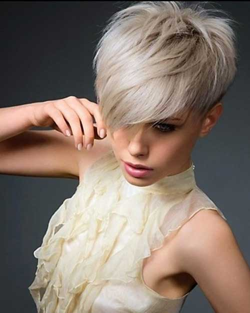 Short Layered Pixie Haircuts with Bangs 2014