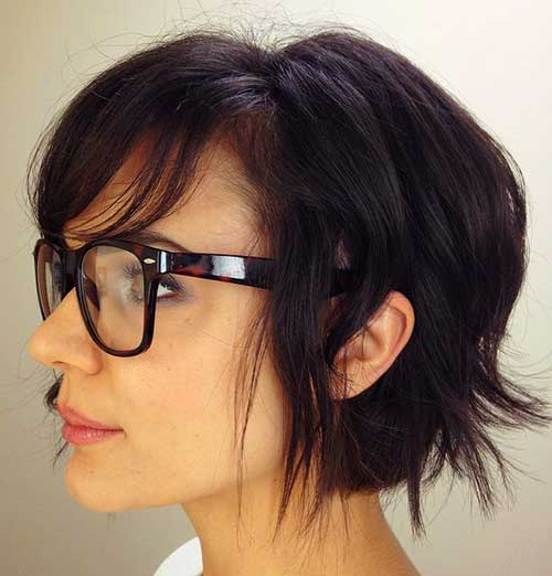 Dark Short Layered Hairstyles