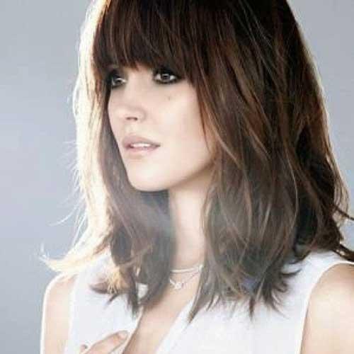Short Medium Haircuts with Bangs 2015