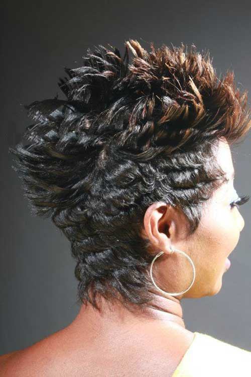 Short Mohawk Black Curly Hairstyles