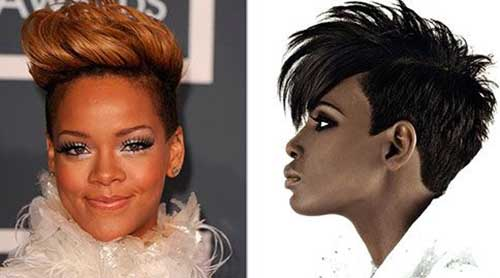 Nice Short Mohawk Black Hairstyles