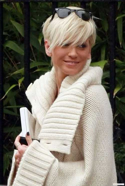 Short Straight Blonde Hair with Bangs 2014