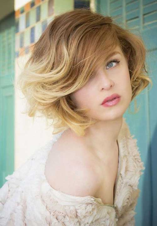 Short Wavy Bob Ombre Hairstyle
