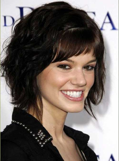 Short for Curly Dark Hairstyles for Oval Face