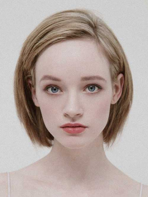 Side Swept Straight Bob Hairstyle