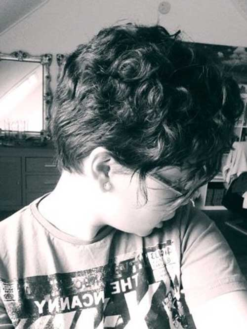 Side View Pixie Cut Curly Hair Types