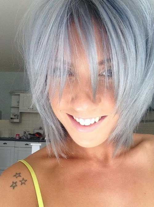 Silver Short Hair Colors