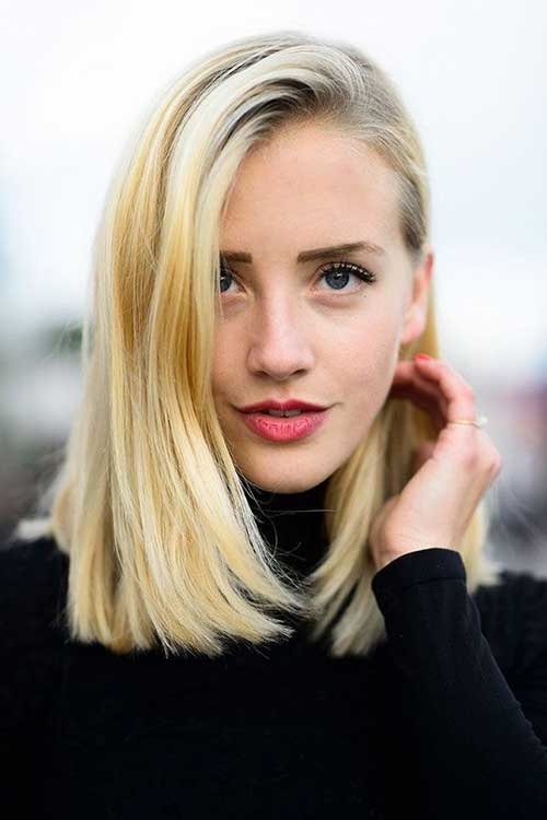 Soft Blonde Medium to Short Haircuts