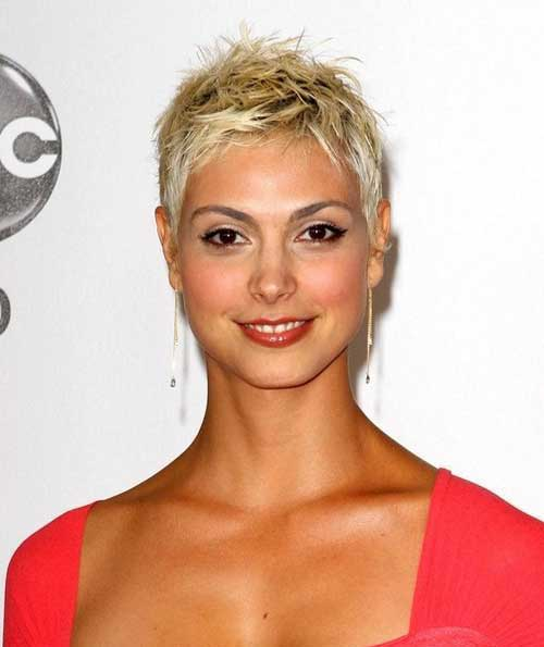 Spiky Short Blonde Hairstyles 2015