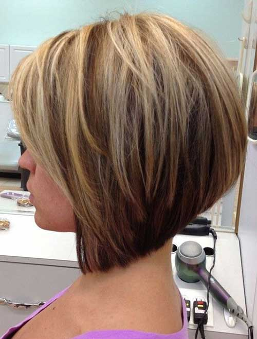 Stacked Short Straight Hairstyles 2014