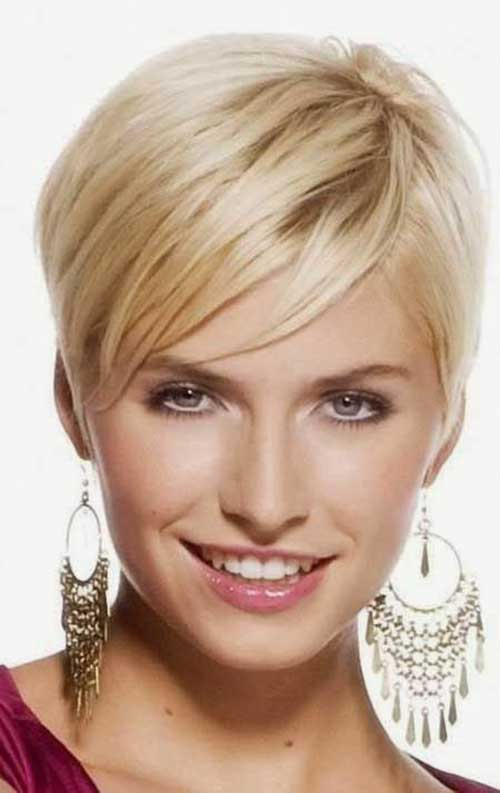 Straight Blonde Pixie Hairstyles