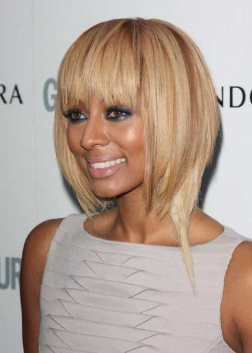Straight Blonde Short Hairstyles for Black Women