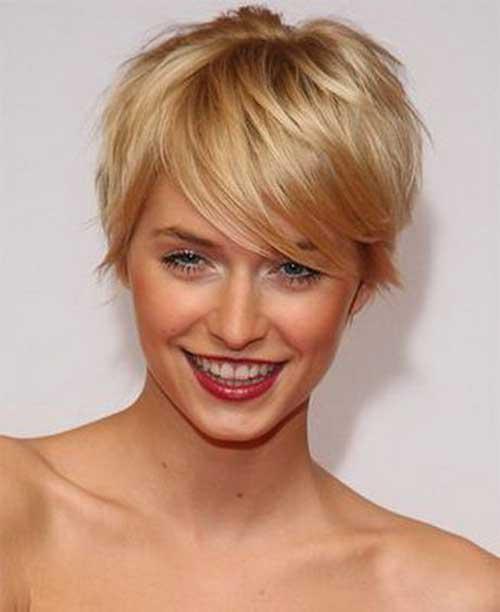 Straight Blondie Long Pixie Hairstyles