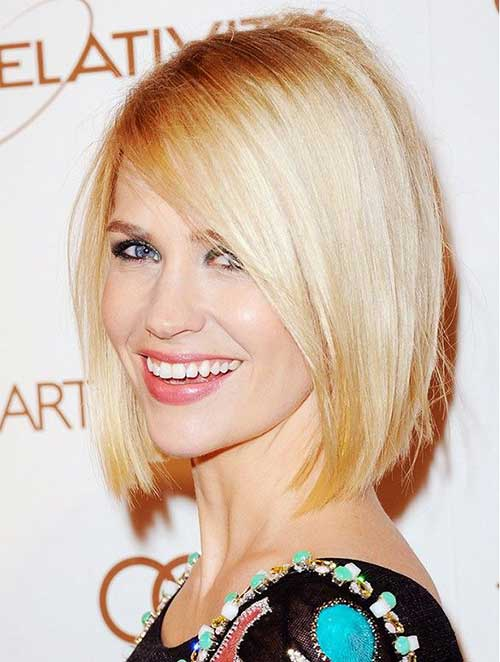Straight Blunt Blonde Bob Hair
