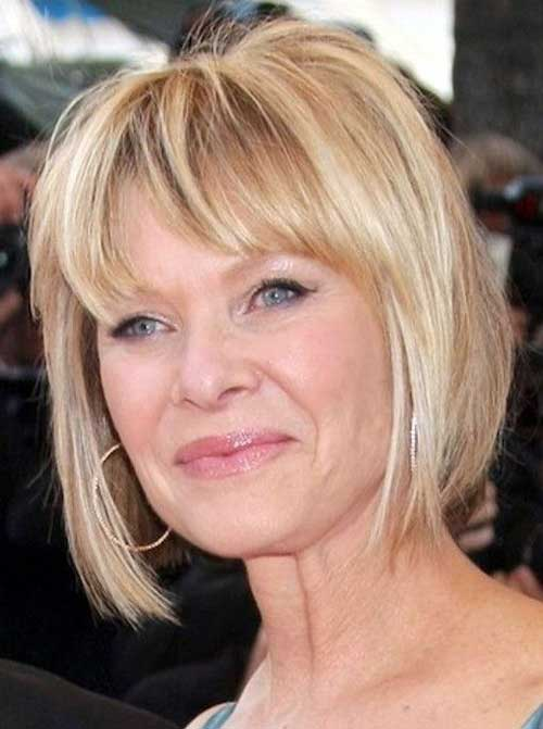 Straight Bob Short Haircuts for Mature Ladies