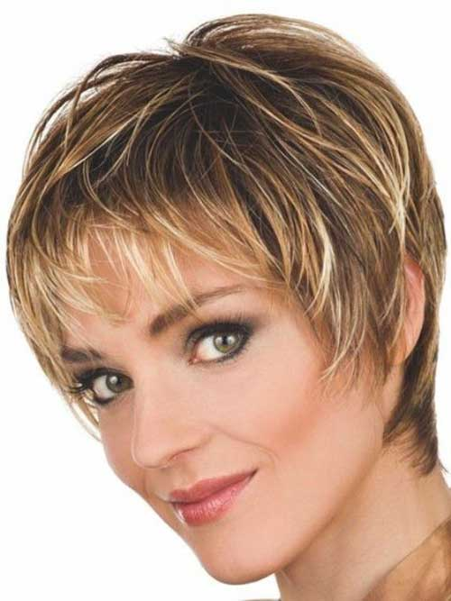 Straight Dark Blonde Pixie Haircuts Older Women