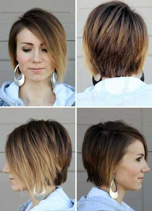 Straight Ombre Bob Hairstyles 2015