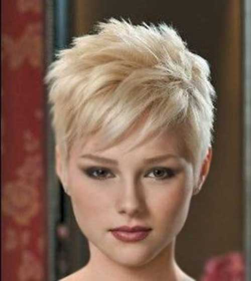 Straight Short Blonde Hairstyles 2015
