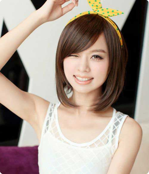 Imagenes De Cute Hairstyles For Medium Short Hair With Side Bangs