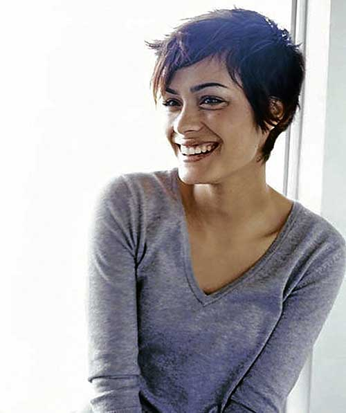 Super Short Pixie Cut Wavy Hair
