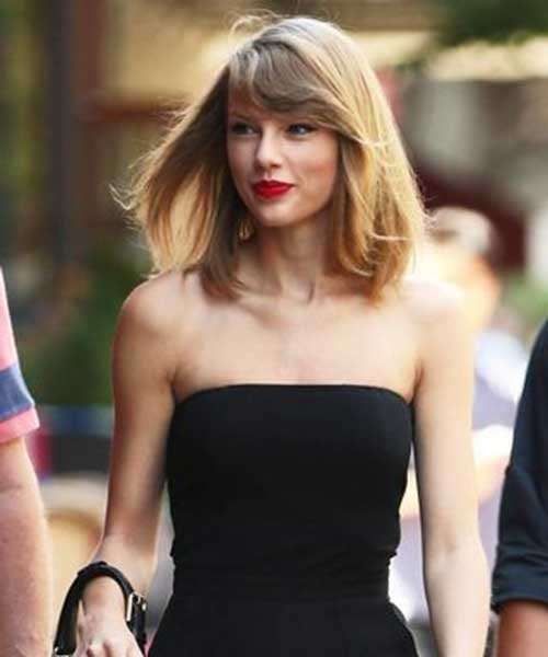Taylor Swift Short Haircuts with Bangs 2015