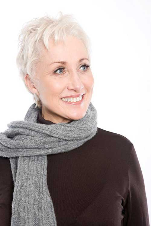 Thin Short Haircuts for Mature Ladies