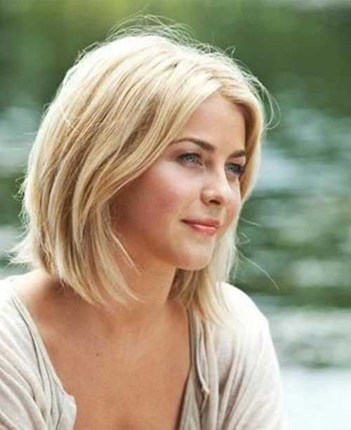 2014 Trendy Long Bob Blonde Hair