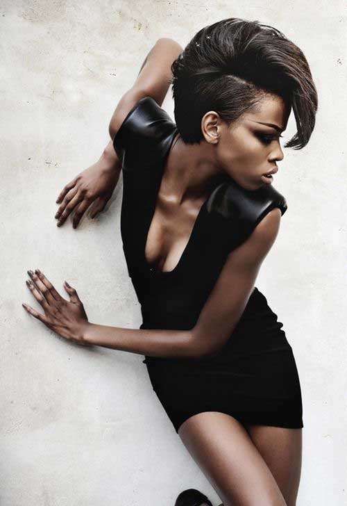 Trendy Short Mohawk Black Women Hairstyles