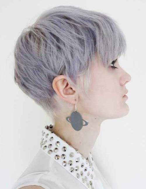Trendy Short Pastel Hairstyles