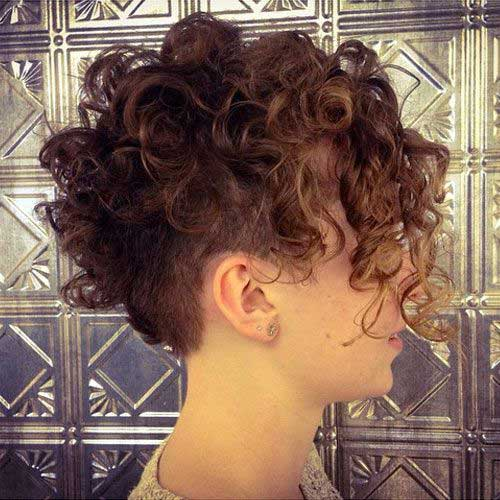Undercut Pixie Cut Curly Hair