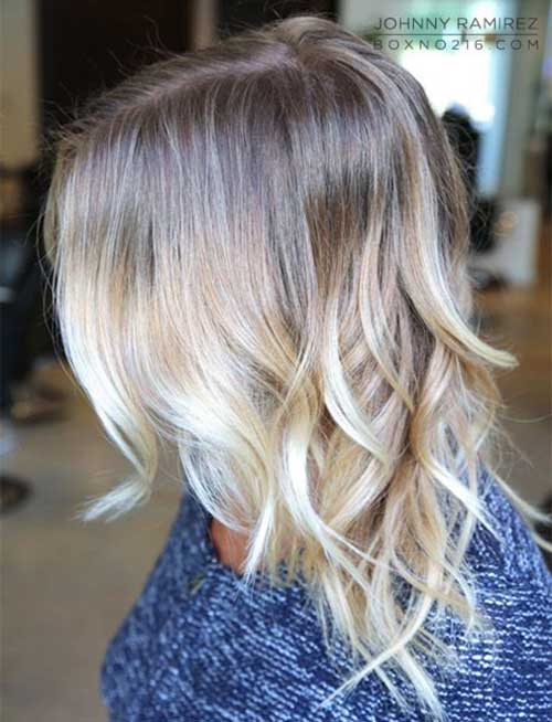 Wavy Balyage Ombre Short Hair Style