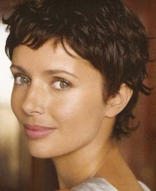 Wavy Hair Short Pixie Cut