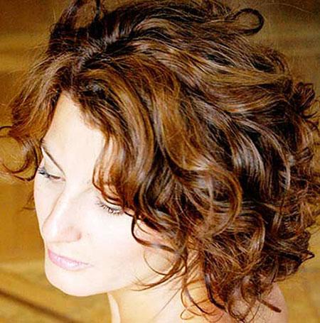 Short Curly Hair - 16-