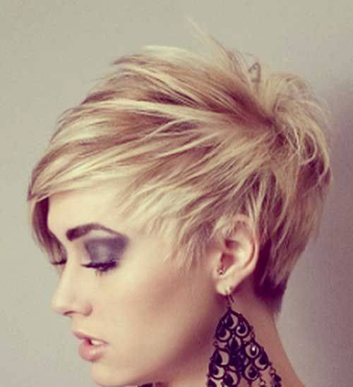 Asymmetrical Pixie Cut Side View