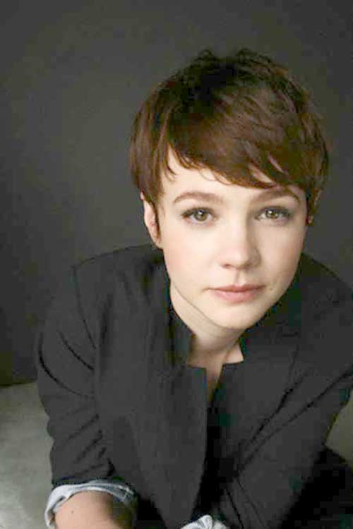 Carey Mulligan Layered Bangs Short Hairstyles 2015