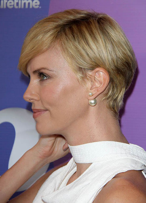 Charlize Theron Blonde Pixie Cuts