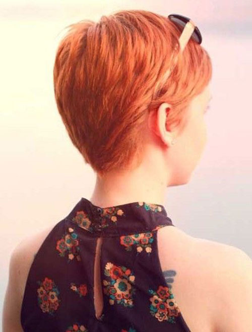 Copper Pixie Cut Side View