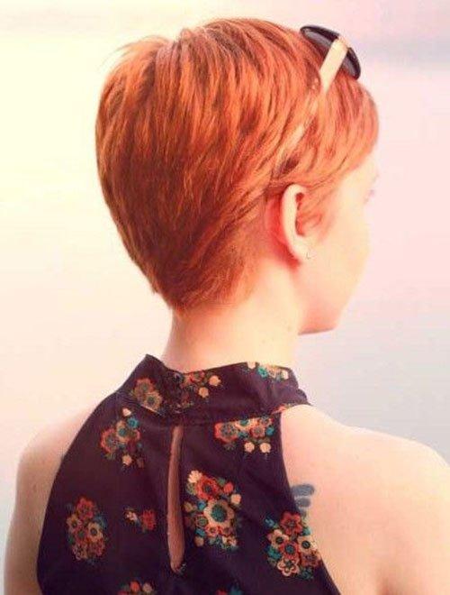 Copper Pixie Cut Side View